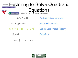Solving Quadratic Equations By Factoring Worksheet Algebra 2 ...