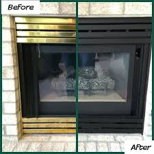gas fireplace covers this inspired me to paint my fireplace it was a easy project gas gas fireplace covers
