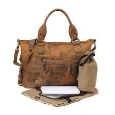 oioi tote diaper bag leather jungle slouch brown for