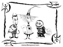 Small Picture Nightmare Before Christmas Coloring Pages Oogie Boogie cheminee