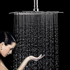 <b>Rainfall</b> Shower Head, 12 Inch Square Stainless Steel <b>Rain</b> ...