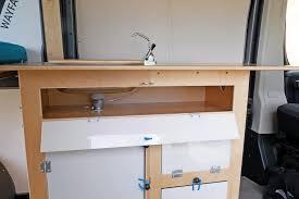 ram promaster camper van conversion kit kitchen galley fresh water