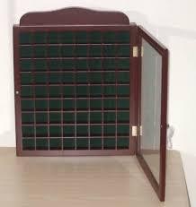 wood thimble display cabinet case glass door 72 e