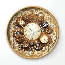 vintage style wall clocks steampunk vintage style clocks and gears wall clock antique looking wall clocks vintage style wall clocks
