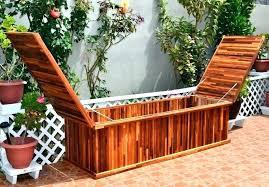 wooden deck box outdoor cushion storage box outdoor pool storage pool storage boxes bench seat storage
