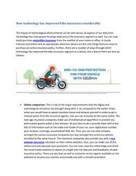 Click to find out everything you need to know about process, use of the registration number & more. How Technology Has Improved Bike Insurance Considerably By Sagar Yadav Issuu