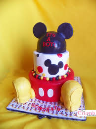 1st Birthday Cake Baby Mickey  Image Inspiration Of Cake And Baby Mickey Baby Shower Cakes