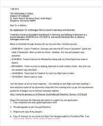 Visa Application Cover Letter 36 Application Letter Samples Free Premium Templates