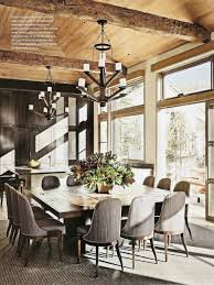 large rustic dining room table. Rustic Dining Room By Stephen Sills Assoc. And Menendez Architects In Aspen, Colorado Love The Square Table Idea Large