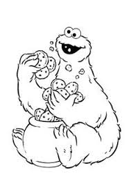 Cookie Monster Coloring Pages Printable Free At Getdrawingscom