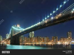 Brooklyn Bridge Lights Brooklyn Bridge Image Photo Free Trial Bigstock