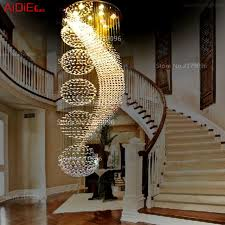 spiral staircase lighting. Crystal Chandeliers Circular Spiral Staircase Duplex Villa Long Lamp Living Room Modern Minimalist Restaurant Lights Lighting