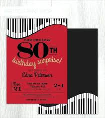 Gold Birthday Invitations With Two Photos 80th Party Templates