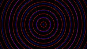 Animation Circles Red Radio Signal Effect And Blue Background Animation And Motion
