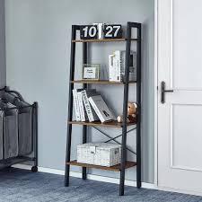 Standregal Bücherregale 4 Ebenen Leiter Regal Stabiles