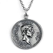 sterling silver necklace replica brutus ancient roman coin save loading zoom
