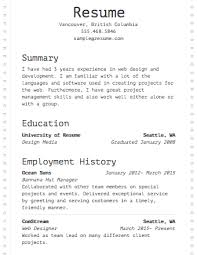 Select Template A sample template of a Dot Matrix resume