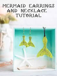 diy mermaid earrings and necklace tutorial