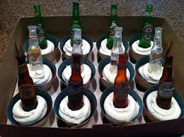 Beer Bottle Cupcake Toppers Made For A Beer Themed Birthday Party