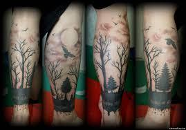 татуировка в стиле блэк ворк
