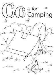 Small Picture Letter C is for Camping coloring page Free Printable Coloring Pages