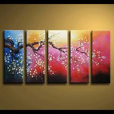 cherry blossom wall art canvas