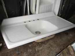 1949 vintage kohler single basin double drainboard porcelain over