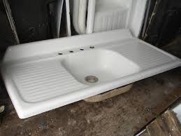 1949 vintage kohler single basin double drainboard porcelain over