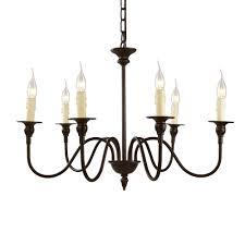 lnc 6 light bronze candle chandelier