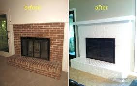 painted fireplace brick painting brick fireplace white how to paint a brick fireplace image painted fireplace