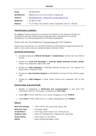 Ui Developer Resume Example Web Tester Cover Letter Inspiration Php Programmer Resume Kerala On 1