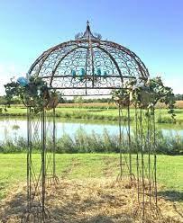 wrought iron round flower arbor garden