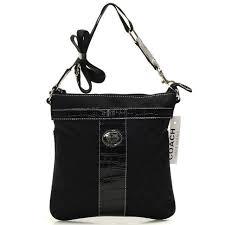 ... coach legacy swingpack in signature medium black crossbody bags beg