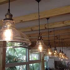 clear glass lamp shade pendant light