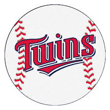 fanmats mlb minnesota twins white 2 ft x 2 ft round area rug
