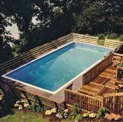 Plain Rectangle Above Ground Pool With Deep End T Intended Inspiration Decorating