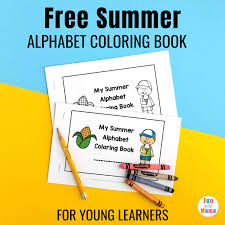 Free printable summer coloring pages. Alphabet Themed Summer Coloring Pages Printable For Young Learners Fun With Mama