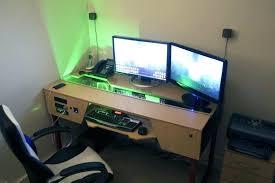 build a computer desk custom desk desk case build i want this but in white custom