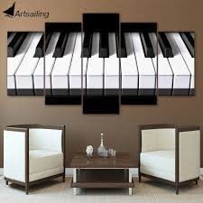 5 pieces canvas art piano keys hd printed music poster canvas painting home decor wall pictures on piano themed wall art with 5 pieces canvas art piano keys hd printed music poster canvas