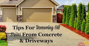 tips for removing oil stains from concrete and driveways on stain removal 101