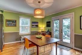 Modern Dining Room With Hardwood Floors U0026 Pendant Light In San Modern Dining Room Chair Rail