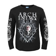 Long Sleeve Shirt With Design On Sleeve Us 29 74 15 Off 5 Designs Swedish Band Arch Enemy 3d Skull Knight Rock Brand Men Women Full Long Sleeve Shirt Heavy Metal Punk Illustration Tee In