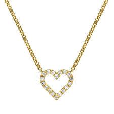 mini diamond hear pendant in 14k gold diamond heart necklace micro pave setting tiny diamond heart necklace