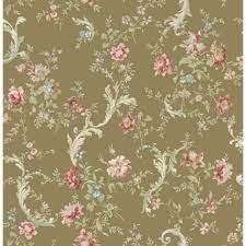 Floral Scroll Flora FG70505 Wallpaper ...