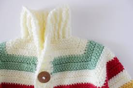 Crochet Baby Sweater Pattern Amazing Crochet Hudson's Bay Baby Sweater Daisy Farm Crafts