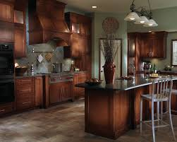 Nice Maple Cabinets Blended With Stainless Steel Appliances And A Slate Floor  Give This Kitchen A Mix Design Inspirations