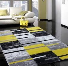 modern small large silver grey yellow soft rug good quality runner rugs