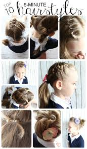 5 Minute Hairstyles For Girls Easy Hairstyles For Little Girls 10 Ideas In 5 Minutes Or Less