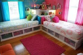 DIY Twin Corner Beds With Storage