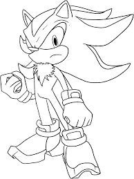 super sonic the hedgehog coloring pages shadow color to prin
